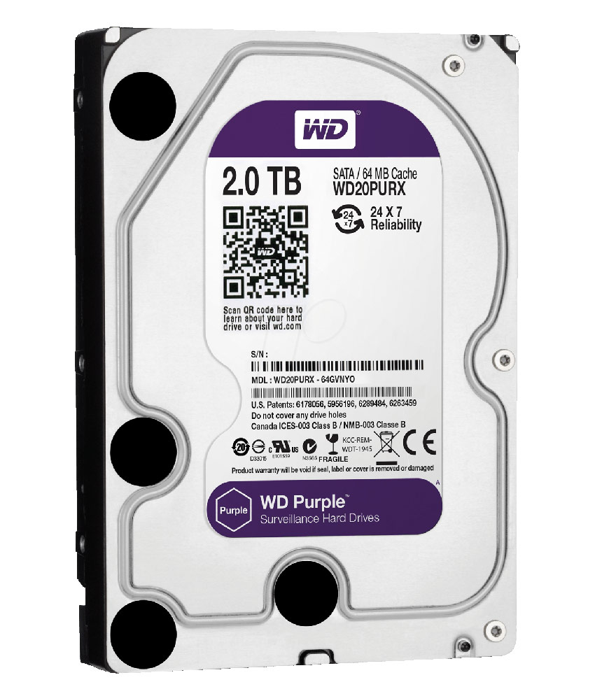 Ổ cứng Western Digital Purple 2TB 64MB Cache
