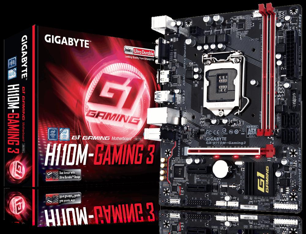 Mainboard GIGABYTE H110M – Gaming 3