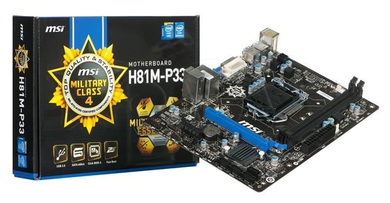 Mainboard MSI H81M-P33