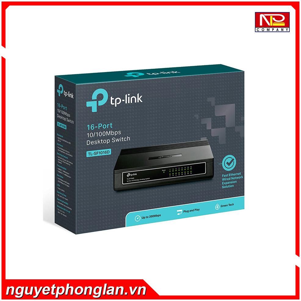Switch TP-Link TL-SF1016D (16Port 10/100Mbps – Vỏ nhựa)