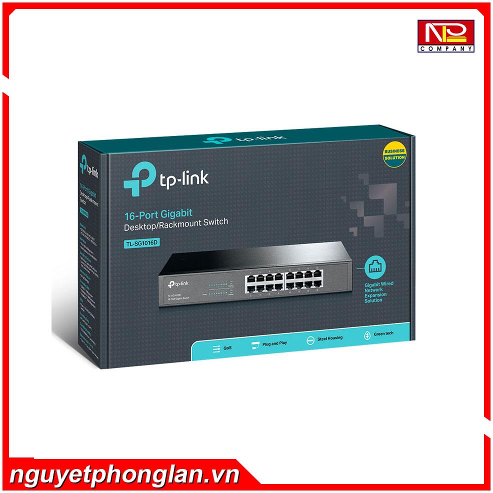 Switch TP-Link TL-SG1016D (16P 10/100/1000Mbps – Vỏ kim loại)