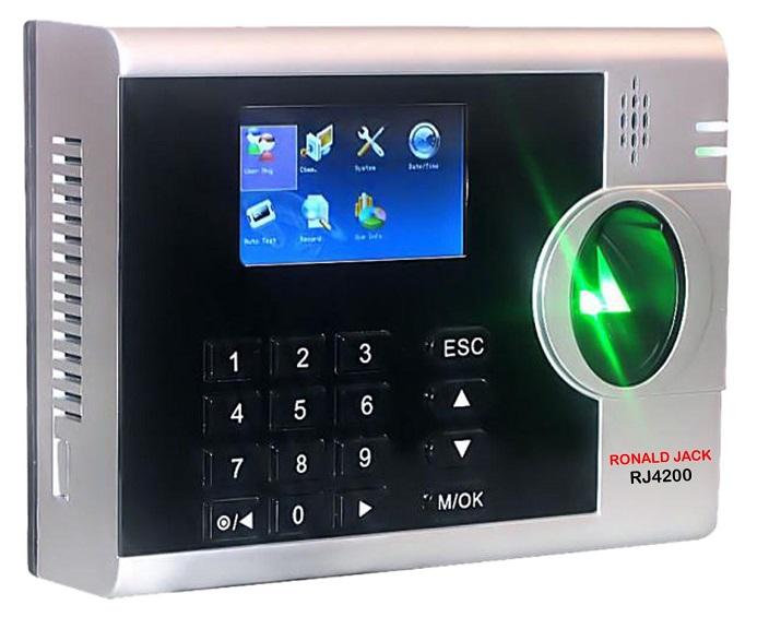 Máy chấm công vân tay và thẻ cảm ứng RONALD JACK RJ4200