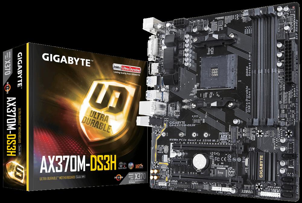 Mainboard Gigabyte AX370M-DS3H (AMD)