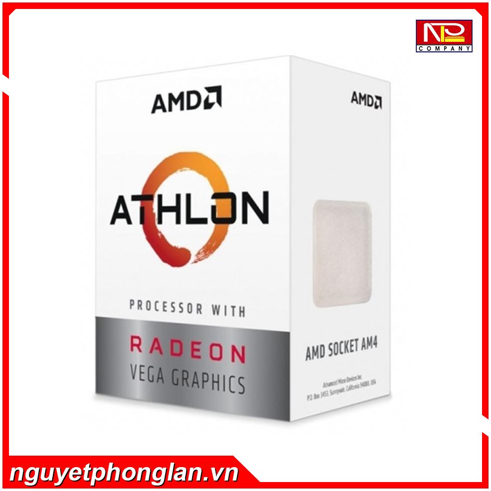 CPU AMD Athlon 3000G (3.5GHz, 2 nhân 4 luồng , 5MB Cache, 35W) – Socket AMD AM4