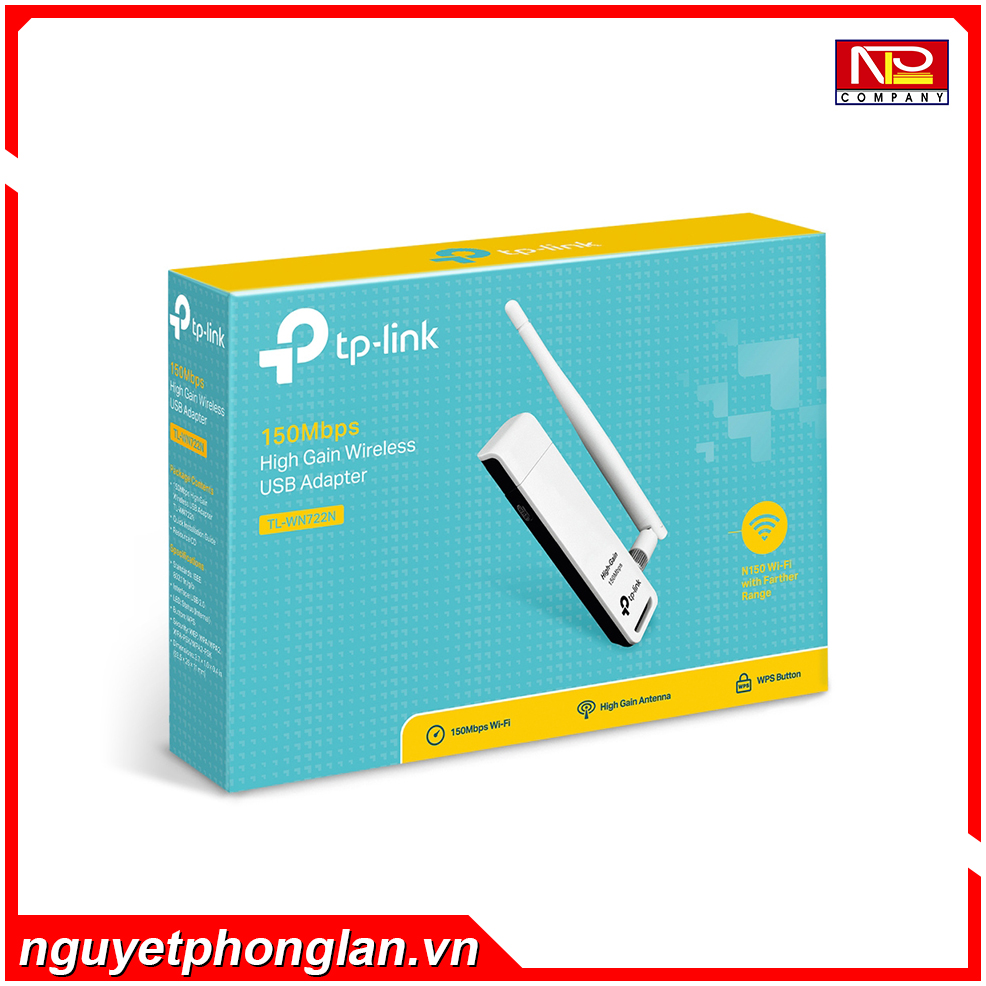 Card mạng không dây USB TP-Link TL-WN722N Wireless N150Mbps