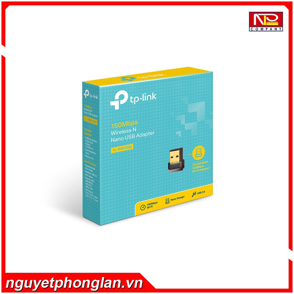 Card mạng không dây USB TP-Link TL-WN725N Wireless N150Mbps