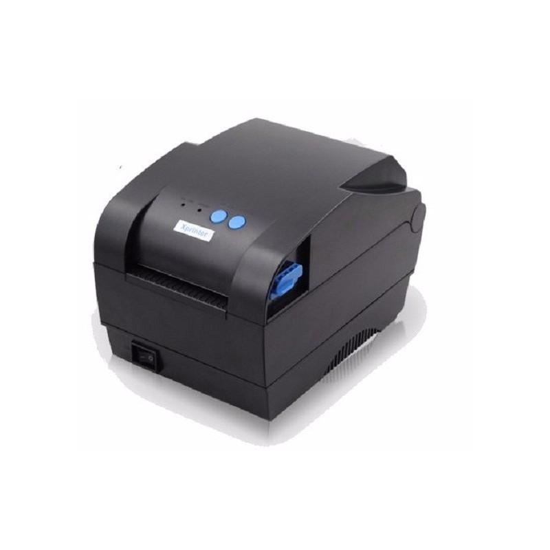 Máy in tem XPrinter XP-365B (khổ 80mm, in nhiệt trực tiếp lên giấy decal)