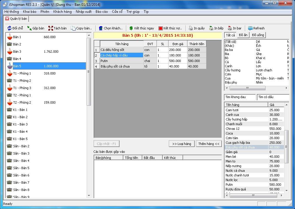iShopmanRES – phần mềm quản lý nhà hàng, cafe, trà sữa
