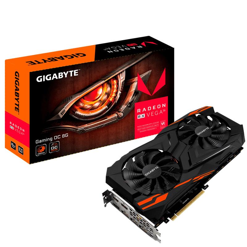 VGA Gigabyte RX VEGA 56 GAMING OC 8G (AMD Radeon/ 8Gb/ DDR5/ 2048 Bits)
