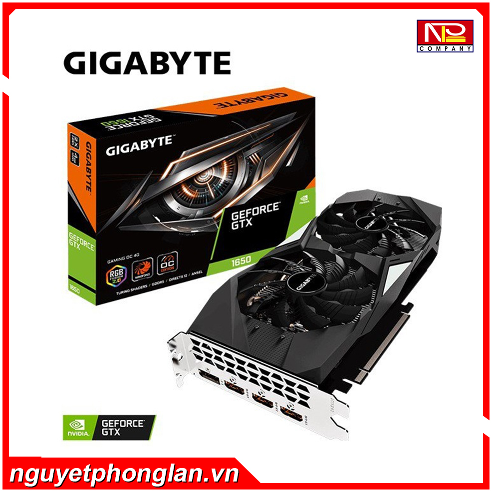 VGA GIGABYTE GeForce GTX 1650 GAMING OC 4G