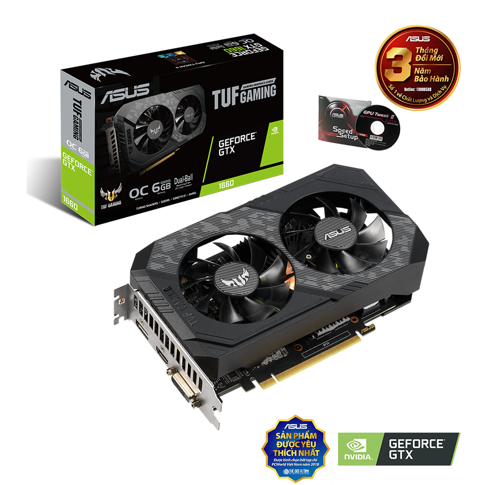 Vga Card ASUS TUF GTX1660 – 6G GAMING