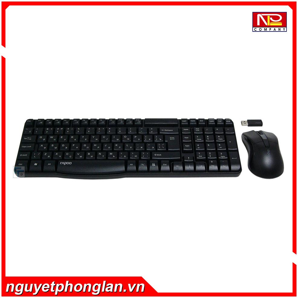 Bộ bàn phím chuột không dây Rapoo X1800 USB-Wireless