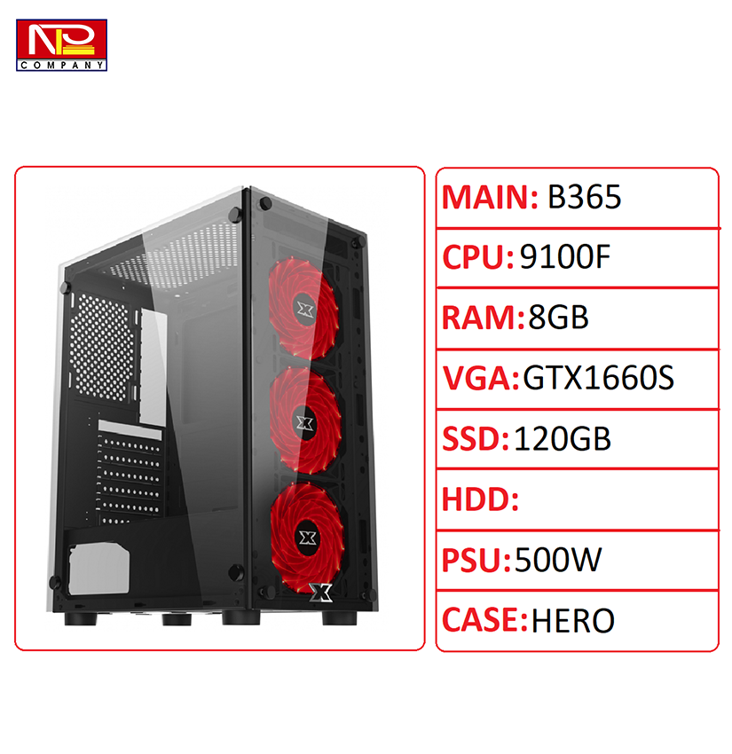 NPL-9100F8G1660S – Máy tính chơi game hiệu năng cao