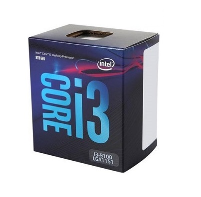CPU Intel Core i3-9100 (3.6GHz turbo up to 4.2GHz, 4 nhân 4 luồng, 6MB Cache, 65W) – LGA 1151