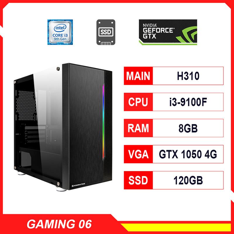 NPL Gaming 6 (i3 9100F-8G-GTX1050ti) – Máy tính chơi game giá rẻ