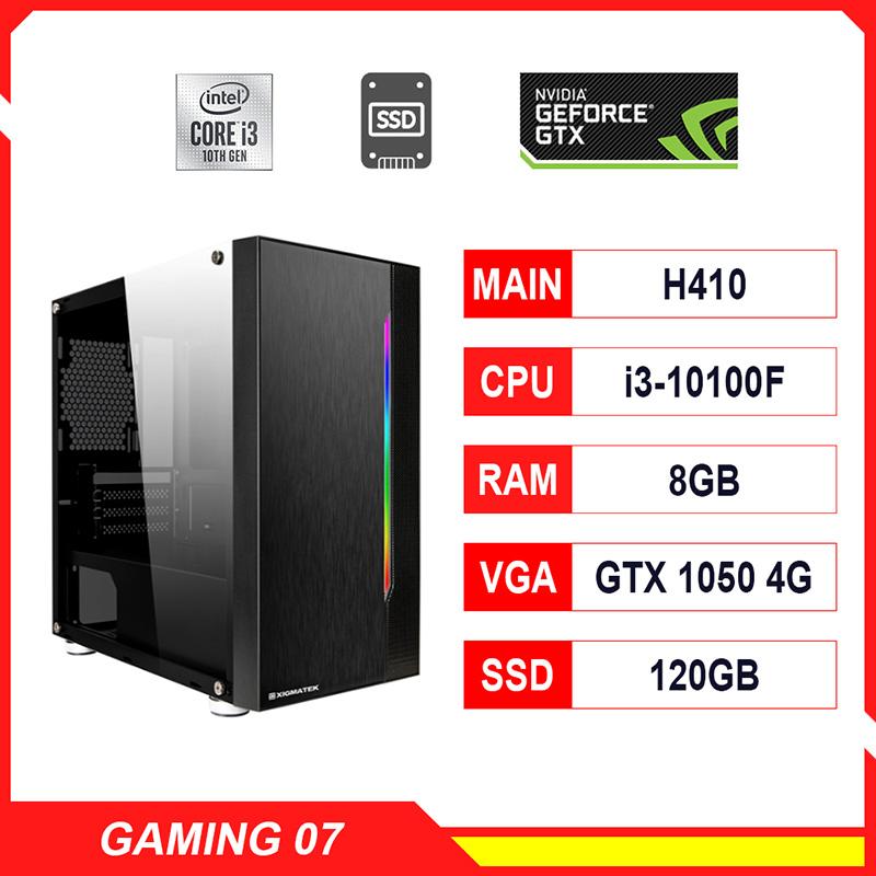 NPL Gaming 7 (i3 10100F-8G-GTX1050Ti) – Máy tính chơi game CPU 10th