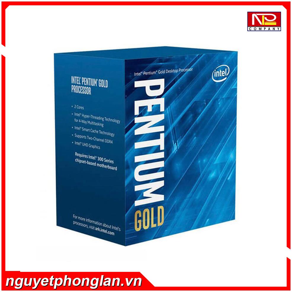 CPU Intel Pentium Gold G6400 (4.0GHz, 2 nhân 4 luồng, 4MB Cache, 58W) – Socket Intel LGA 1200)