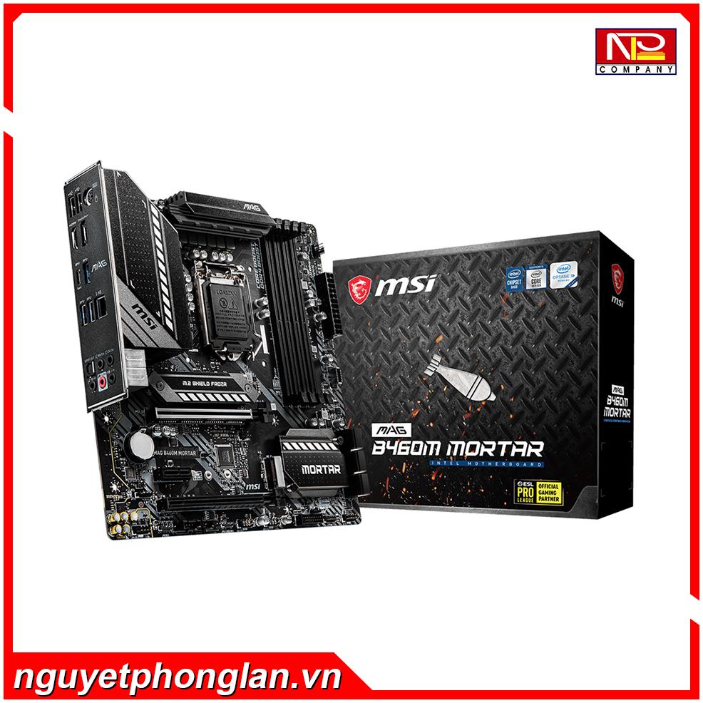 Mainboard MSI MAG B460M MORTAR (Intel B460, Socket 1200, m-ATX, 4 khe RAM DDR4)