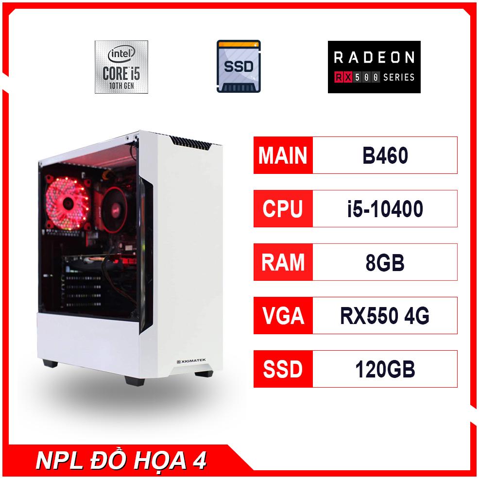 NPL Đồ hoạ 4 (10400-8G-RX550) – Máy tính thiết kế, gaming hiệu năng cao