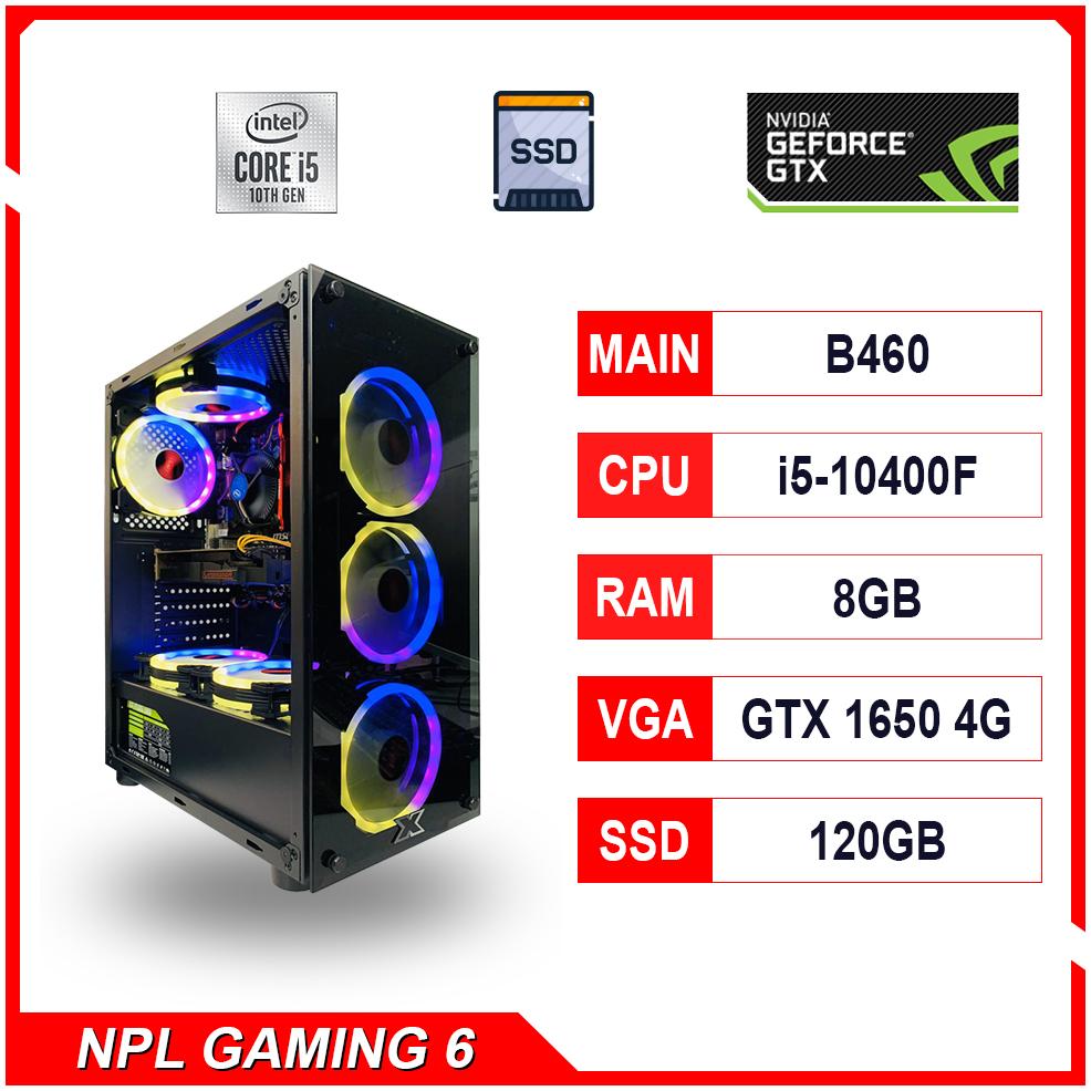 NPL Gaming 6 (i5 10400F-8G-GTX1650) – Máy tính chơi game hiệu năng cao