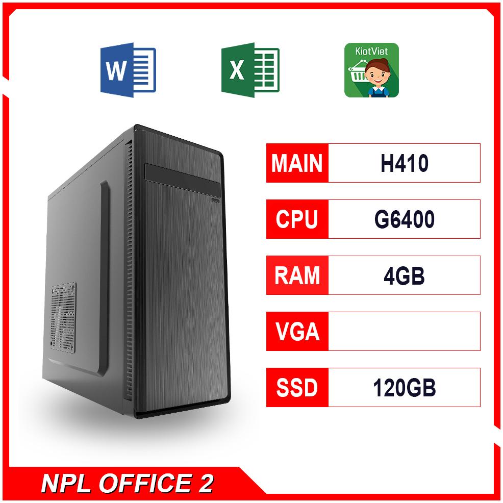 NPL Office 2 (G6400-4G) – Máy tính văn phòng giá rẻ hiệu năng tốt