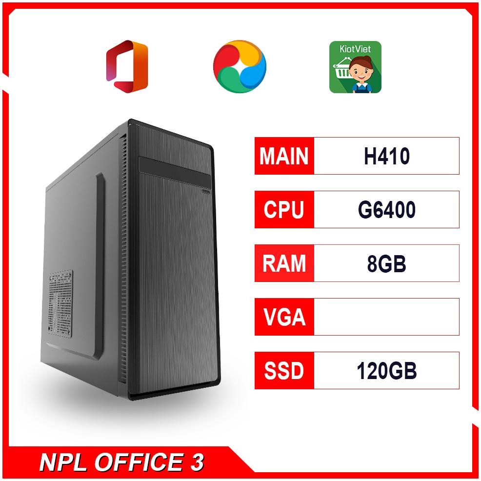 NPL Office 3 (G6400-8G) – Máy tính văn phòng giá rẻ hiệu năng tốt