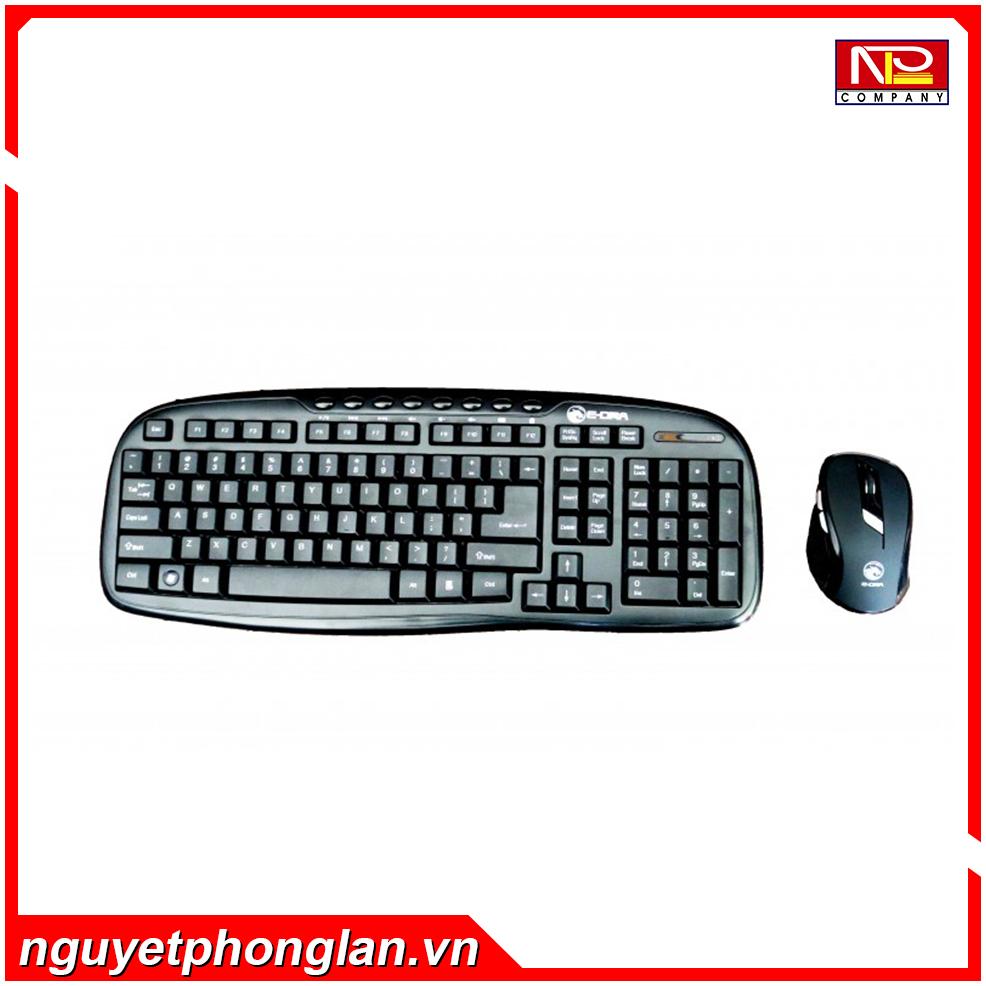 Bộ bàn phím chuột Không dây E-Dra Optica Wireless EC888BK