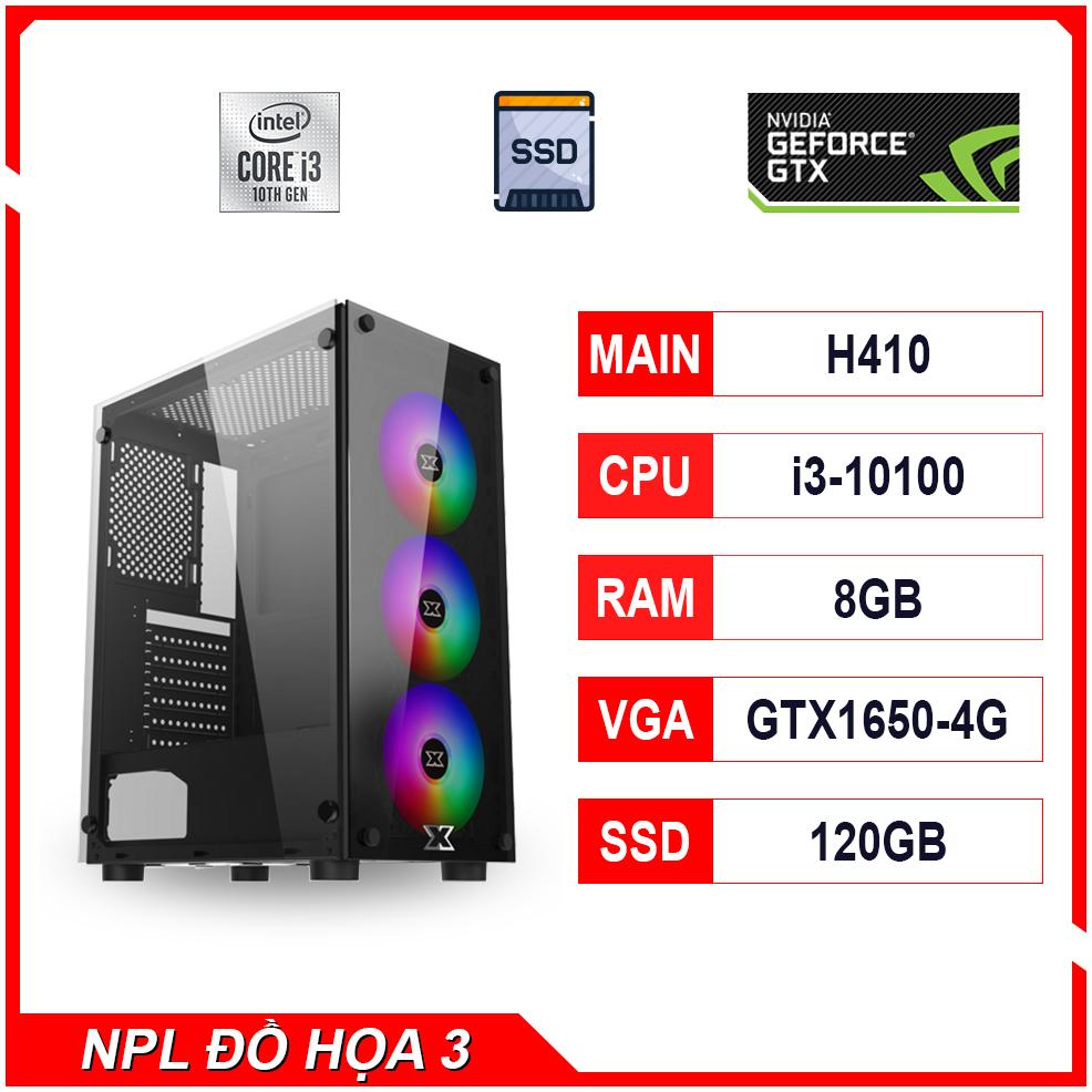 NPL Đồ hoạ 3 (10100-8G-GTX1650) – Máy tính chơi game, thiết kế bán chạy