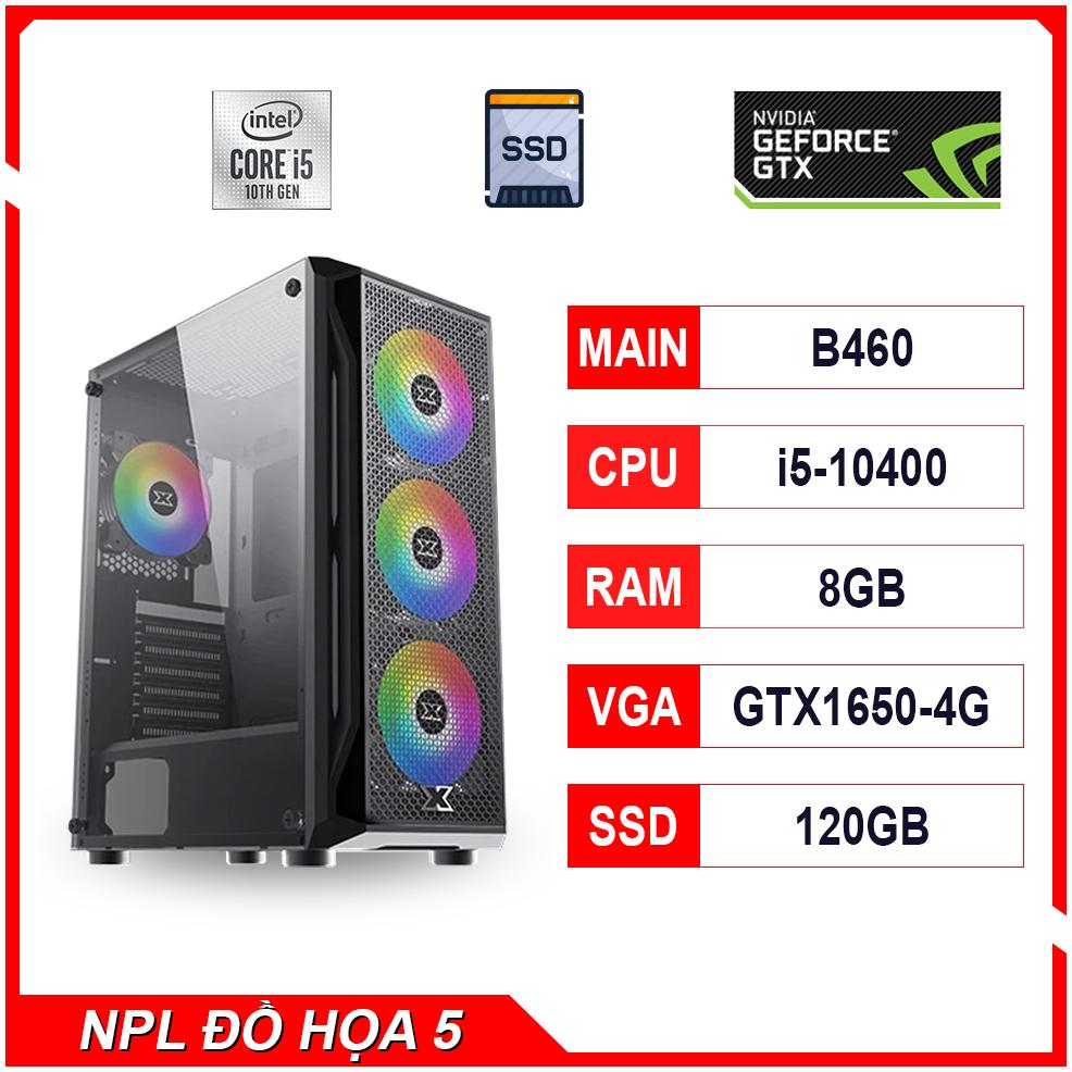 NPL Đồ hoạ 5 (10400-8G-GTX1650) – Máy tính đa dụng hiệu năng cao