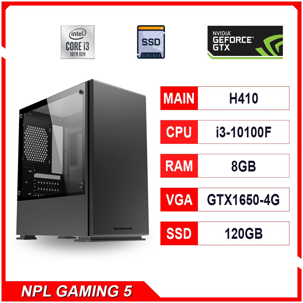 NPL Gaming 5 (i3 10100F-8G-GTX1650) – Máy tính chơi game hiệu năng cao bán chạy