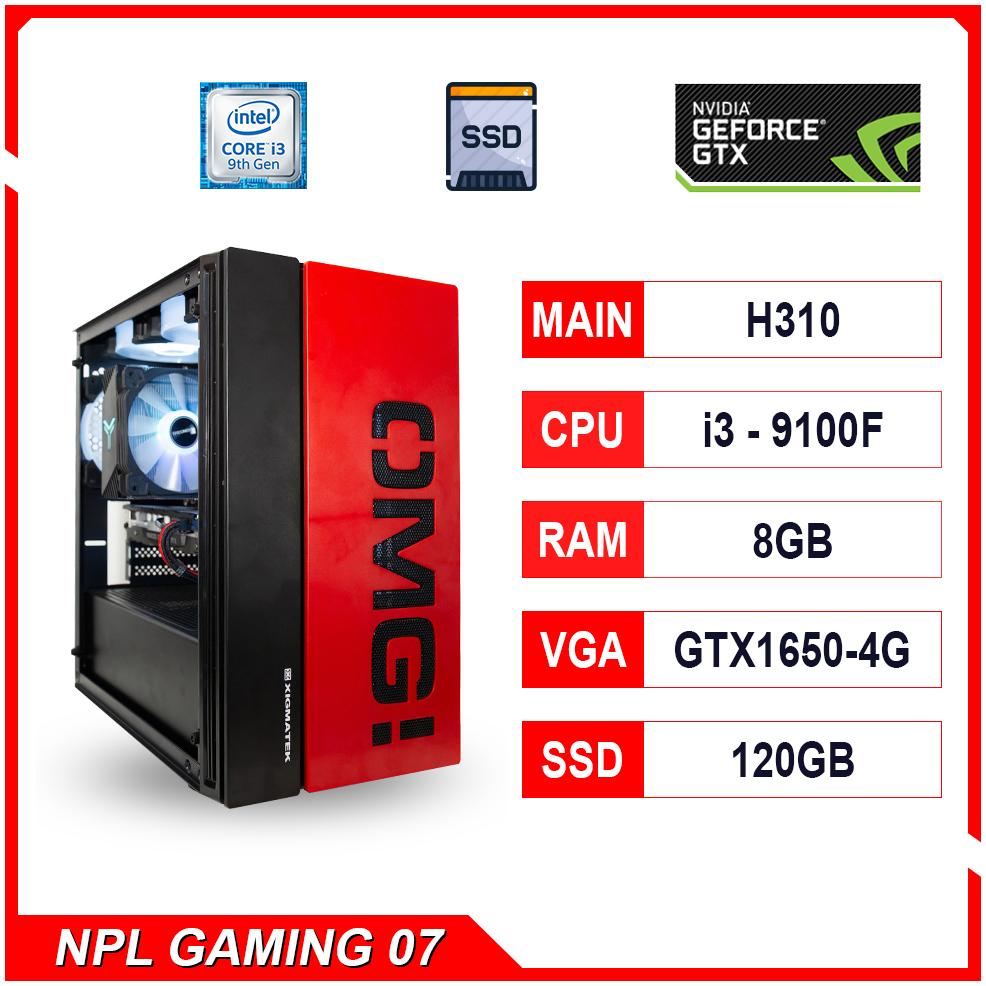 NPL Gaming 7 (i3-9100F-8G-GTX1650) – Máy tính chơi game bán chạy
