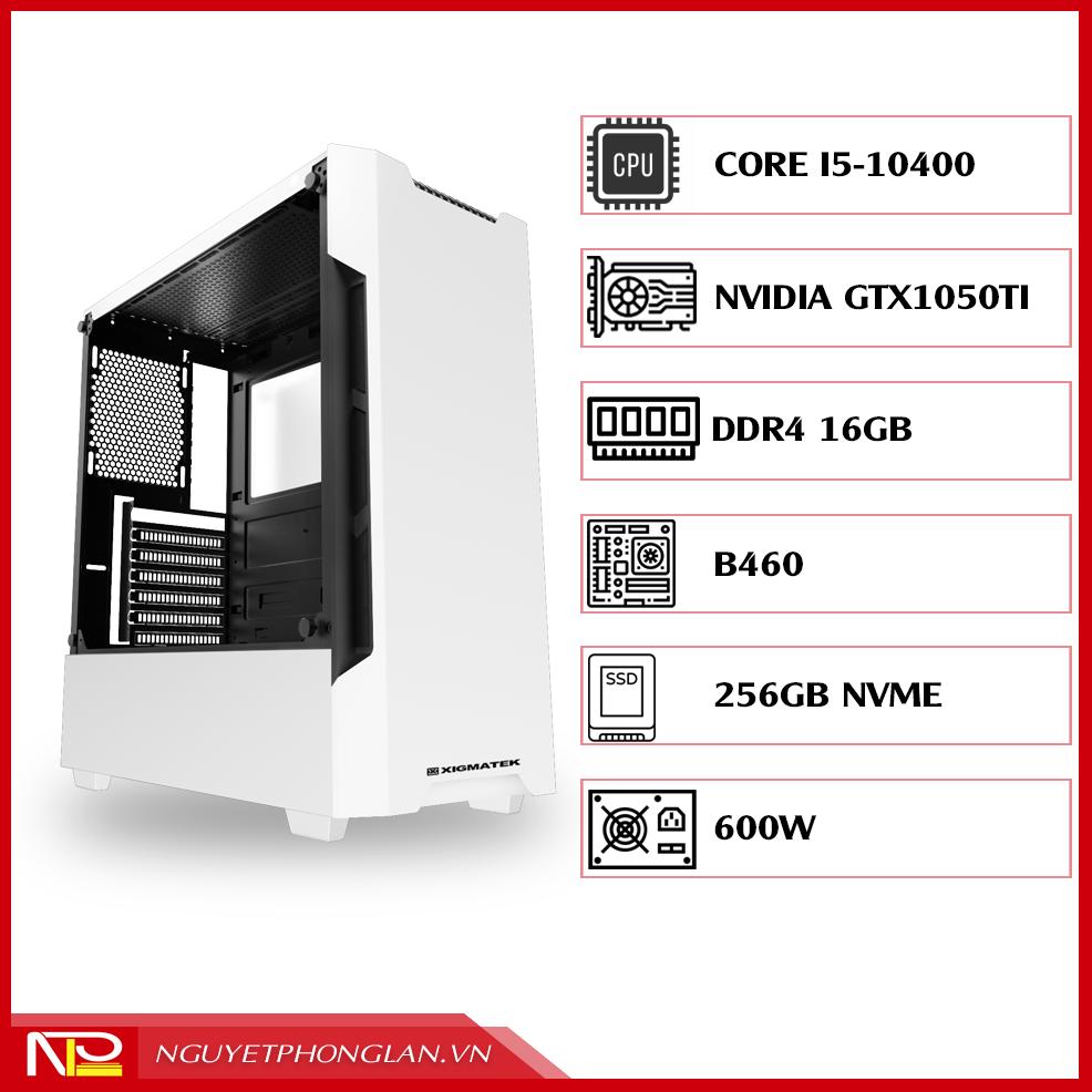 PC NPL Đồ hoạ 2 (i5 10400-RAM 16GB-GTX 1050ti) – Máy tính đồ hoạ giá rẻ hiệu năng tốt
