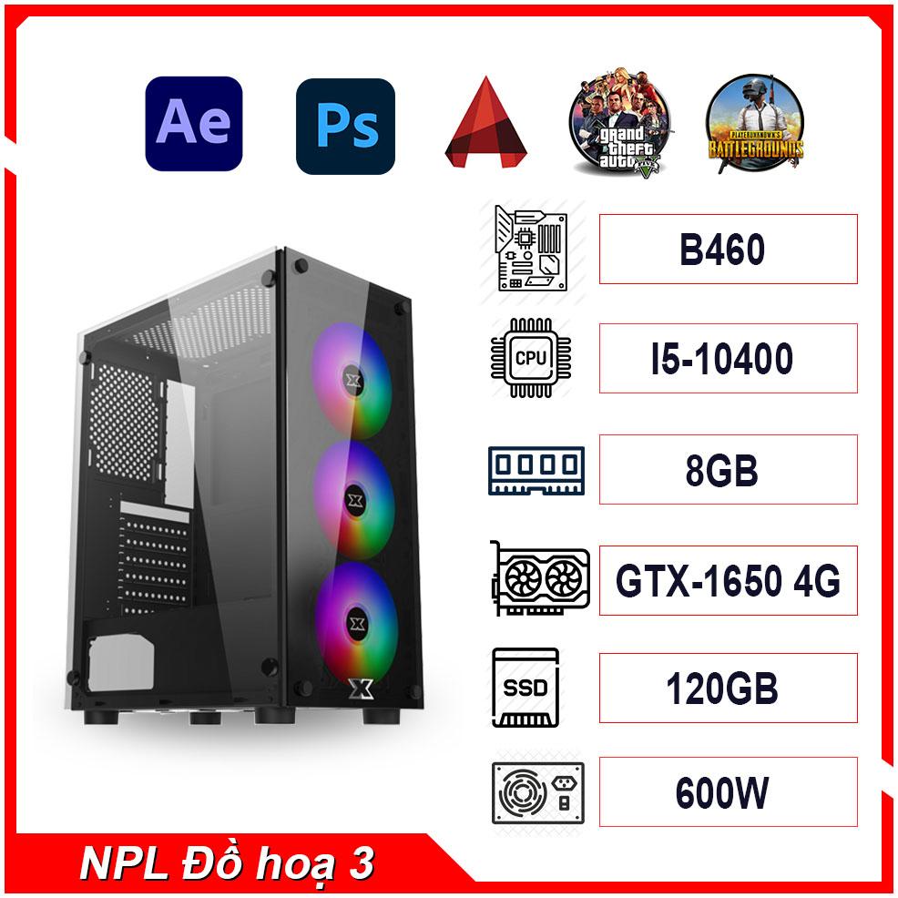 PC NPL Đồ hoạ 3 (i5 10400-RAM 8GB-GTX 1650) – Máy tính đồ hoạ giá rẻ hiệu năng tốt