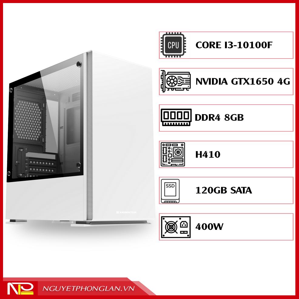 PC NPL Gaming 4 (i3 10100F-RAM 8GB-GTX 1650) – Máy tính chơi game giá tốt hiệu năng cao