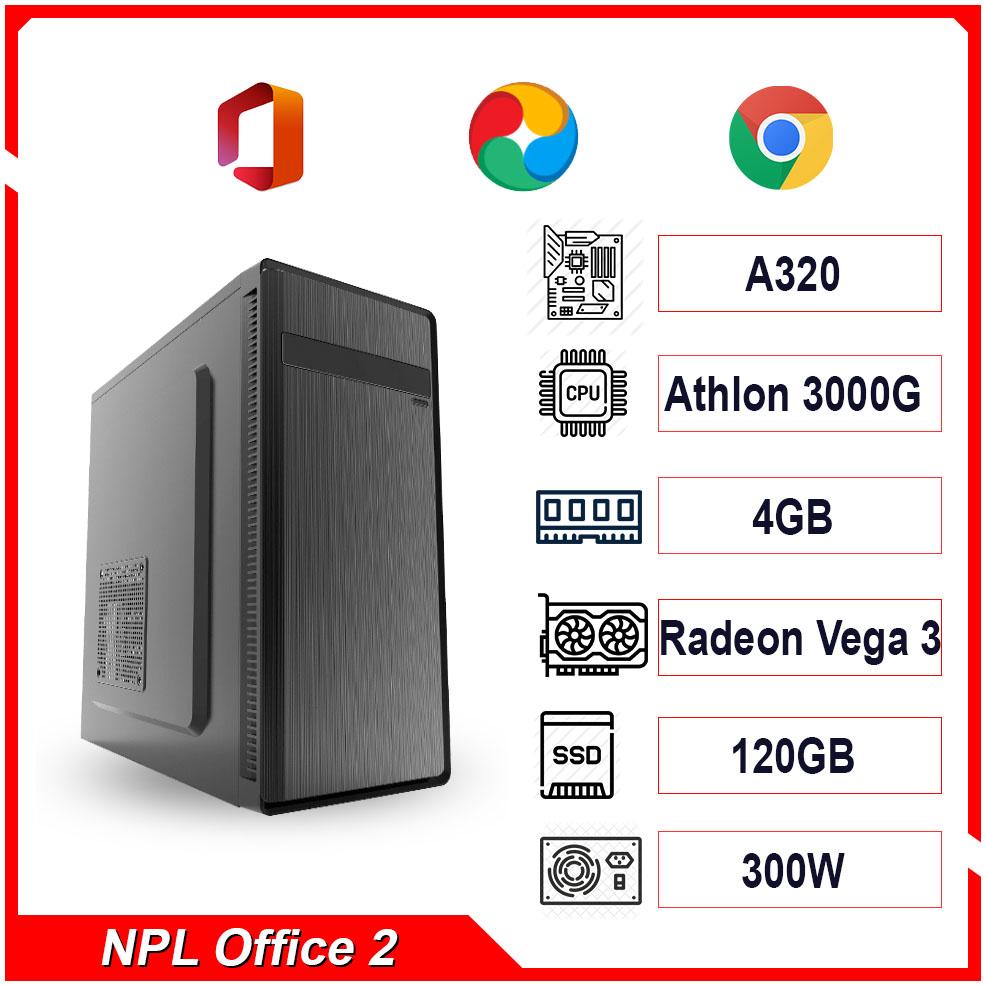 PC NPL Office 2 (3000G-RAM 4GB) – Máy tính văn phòng giá rẻ hiệu năng tốt