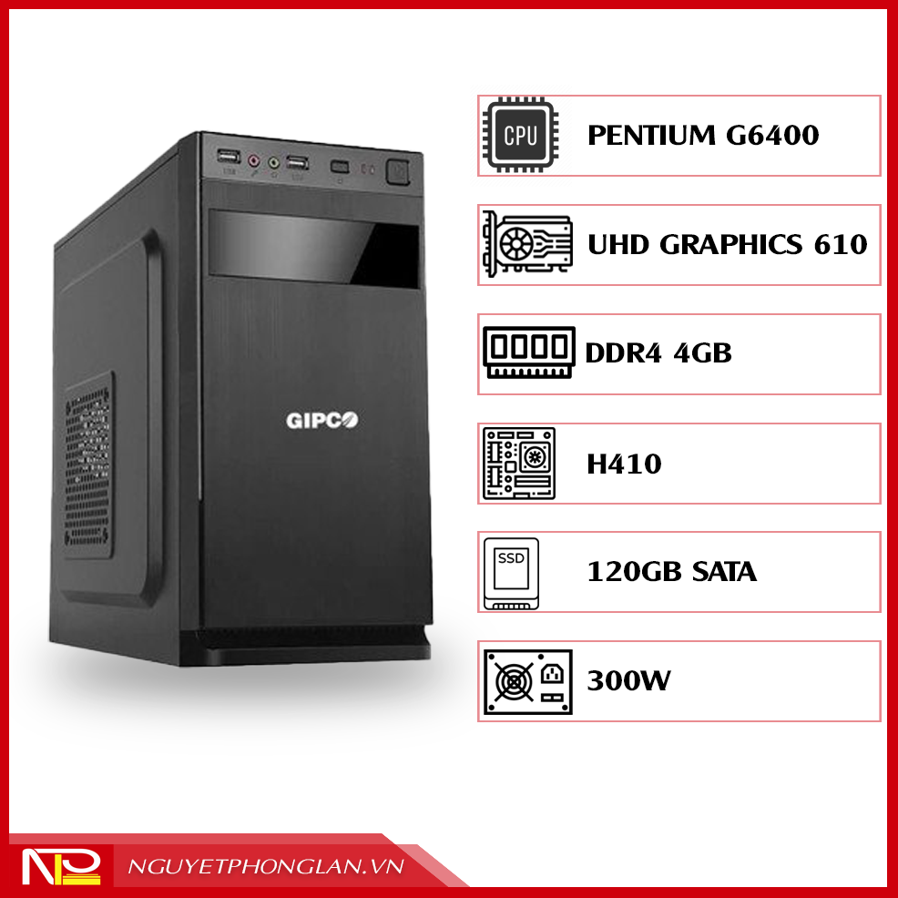 PC NPL Office 3 (G6400-RAM 4GB) – Máy tính văn phòng giá rẻ hiệu năng tốt