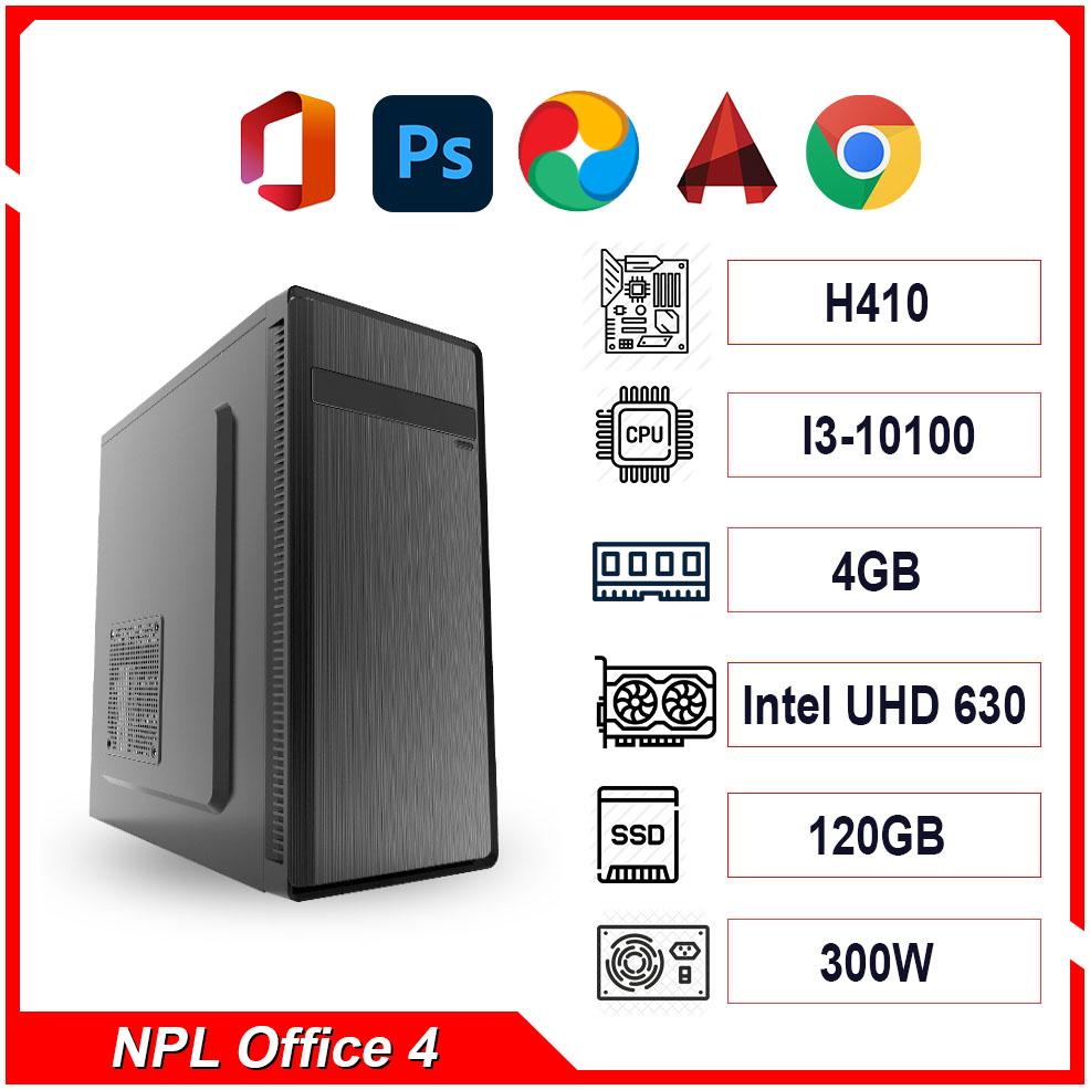 PC NPL Office 4 (i3-10100 RAM 4GB) – Máy tính văn phòng hiệu năng cao