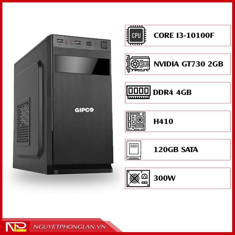 PC NPL Office 5 (i3-10100F RAM 4GB – GT730) – Máy tính văn phòng hiệu năng cao